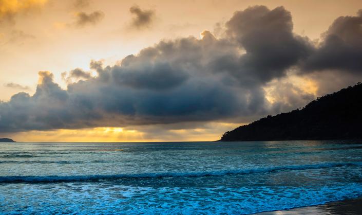 Couché Soleil Ilha Grande Rio Brésil voyage