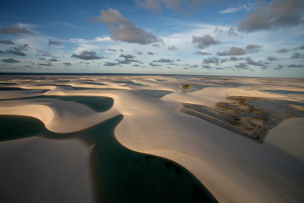 Désert Lençois Maranheses Vu du Ciel Brésil voyage